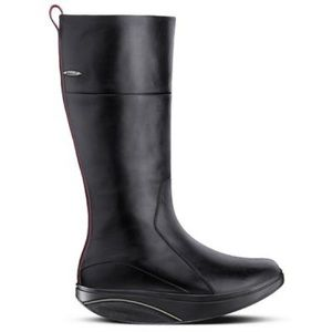 MBT Barefoot Tambo Knee High Boots Gore Tex Black Leather Zip Up